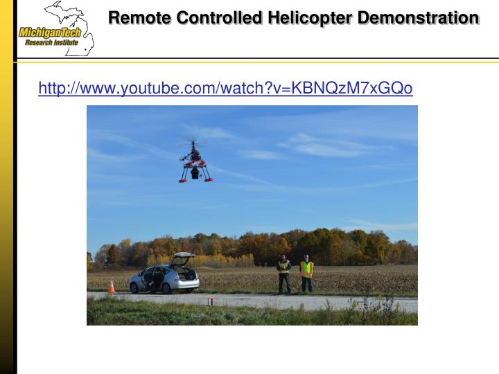 Remote Controlled Helicopter Demonstration