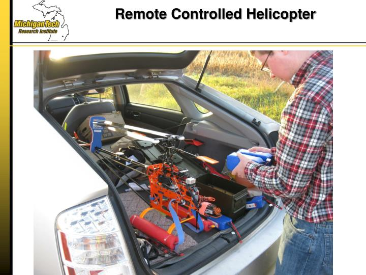 Remote controlled helicopter1