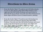 directions to alico arena