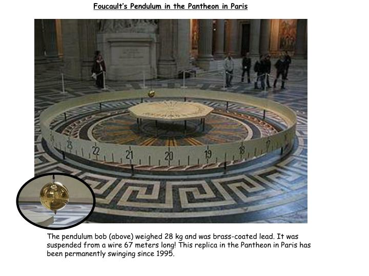 Foucault's Pendulum in the Pantheon in Paris