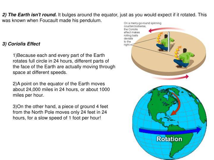 2) The Earth isn't round.