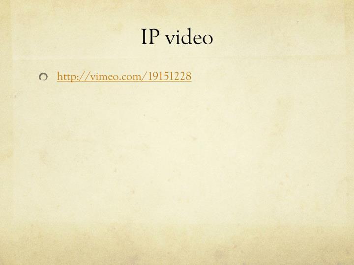 IP video