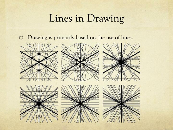 Lines in Drawing