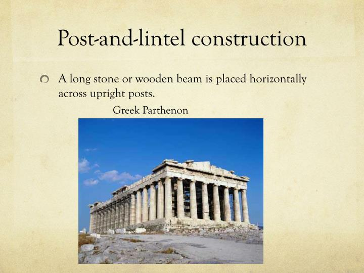 Post-and-lintel construction