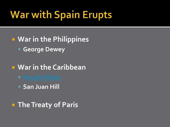War with Spain Erupts