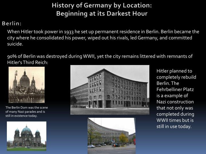 History of Germany by Location: