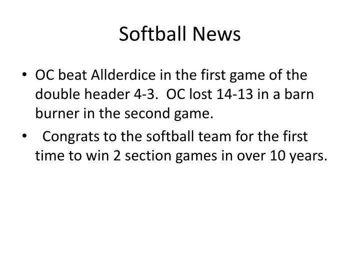 Softball News