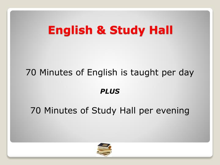 70 Minutes of English is taught per day