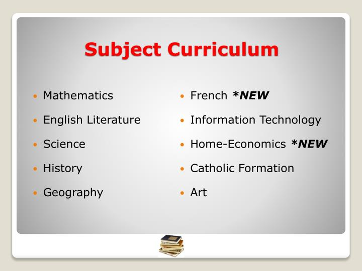 Subject curriculum