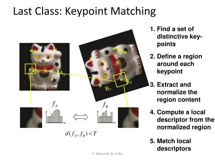 Last class keypoint matching