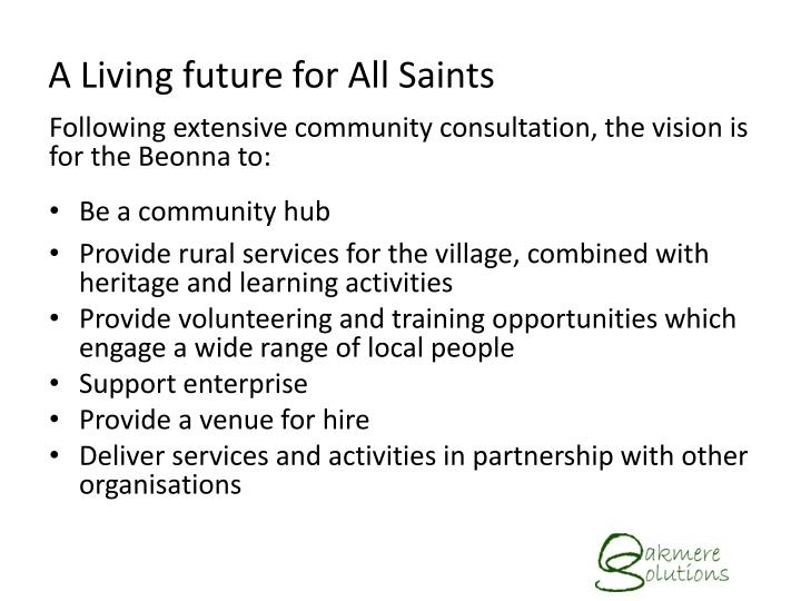 A living future for all saints