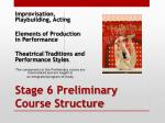 stage 6 preliminary course structure
