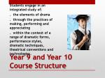 year 9 and year 10 course structure