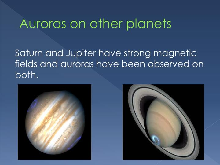 Auroras on other planets
