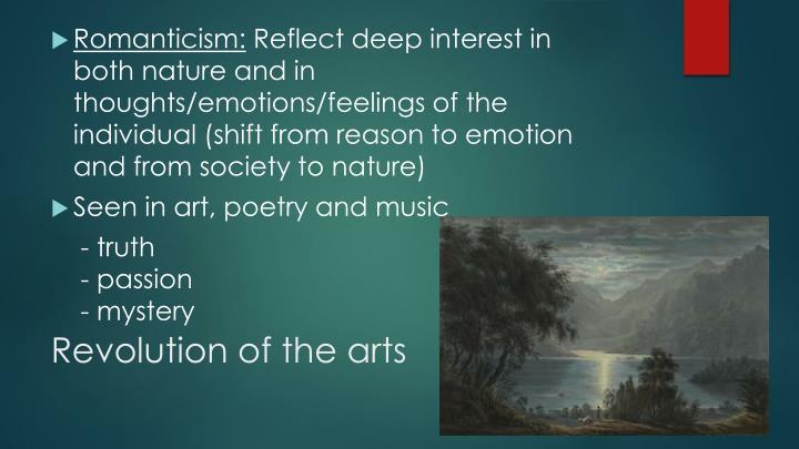 Revolution of the arts