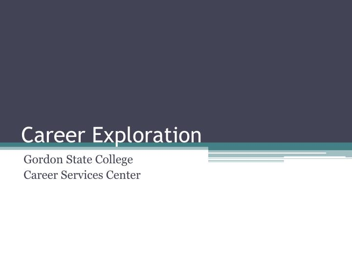 the importance and need for career exploration Having a career strategy is important it can help you manage the direction you want your career to take, the job skills and knowledge you will need, and how you can get them.