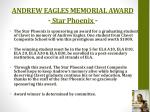 andrew eagles memorial award star phoenix