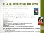 jr sr athlete of the year