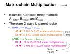 matrix chain multiplication contd2