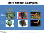 more difficult examples