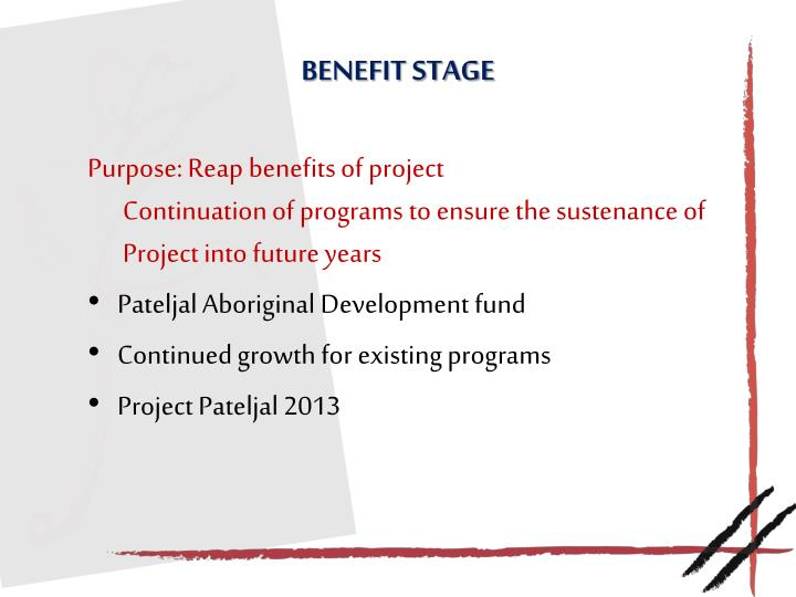 Benefit Stage