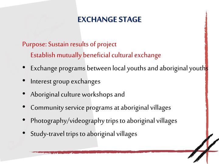 Exchange stage