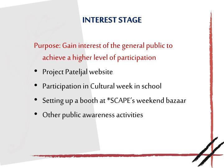 Interest stage