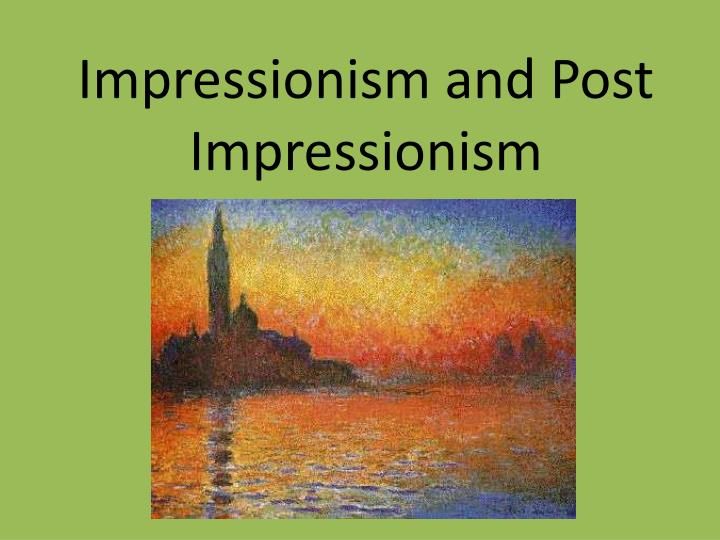 a comparison of the concepts of realism and impressionism Realism coincided with victorianism, yet was a distinct collection of aesthetic principles in its own right the realist novel was heavily informed by journalistic techniques, such as objectivity and fidelity to the facts of the matter.