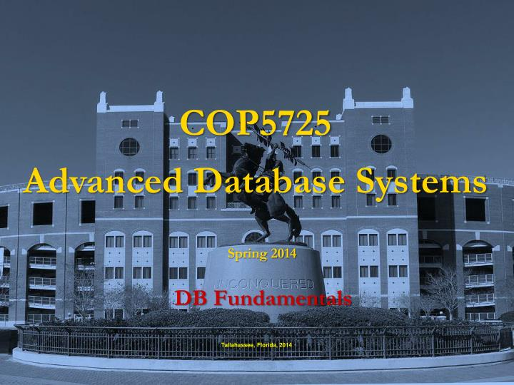 cop5725 advanced database systems n.