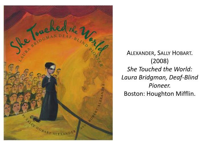 Alexander, Sally Hobart.
