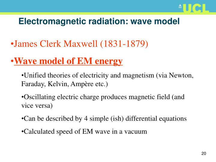 Electromagnetic radiation: wave model