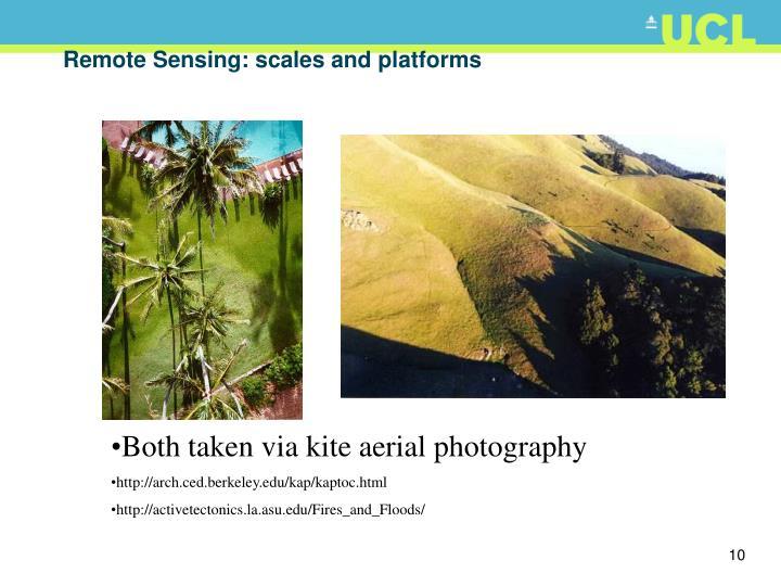 Remote Sensing: scales and platforms