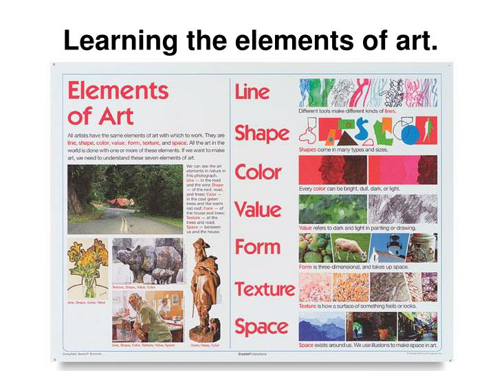 Learning the elements of art.