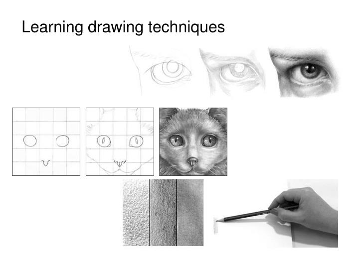 Learning drawing techniques