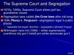 the supreme court and segregation