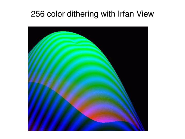 256 color dithering with Irfan View