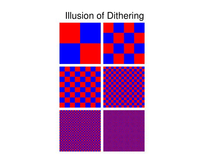 Illusion of Dithering