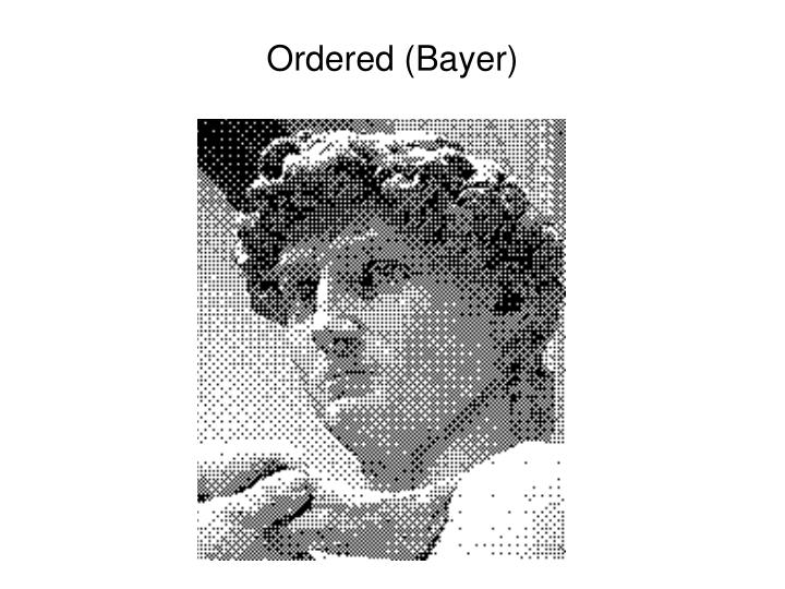 Ordered (Bayer)