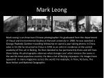 mark l eong