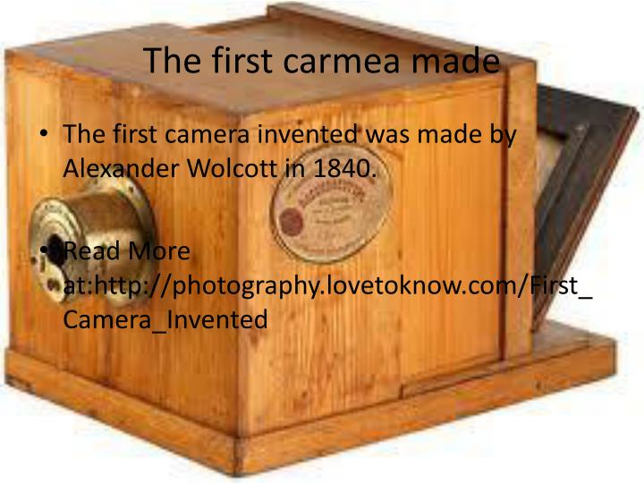 The first carmea made