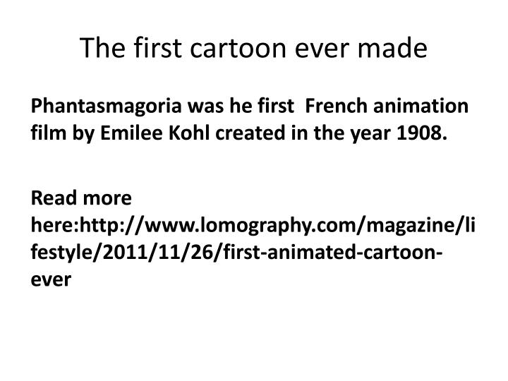 The first cartoon ever made