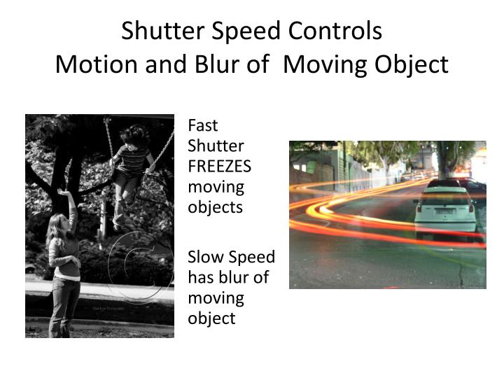 Object Moved: Can Blurred Motion In A Photograph Reveal Something