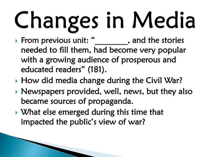 Changes in Media