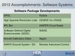 2013 accomplishments software systems2