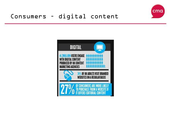 Consumers – digital content