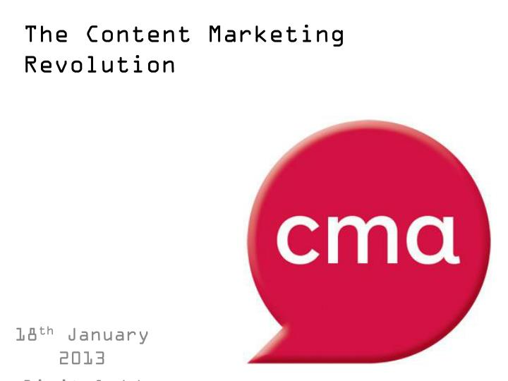 the content marketing revolution n.