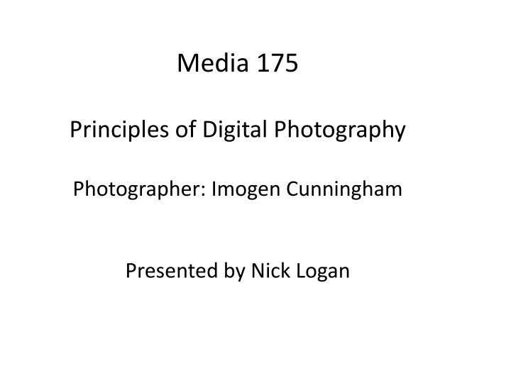 ppt - media 175 principles of digital photography photographer, Presentation templates