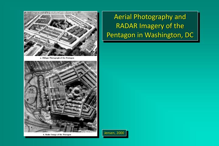 Aerial Photography and RADAR Imagery of the Pentagon in Washington, DC