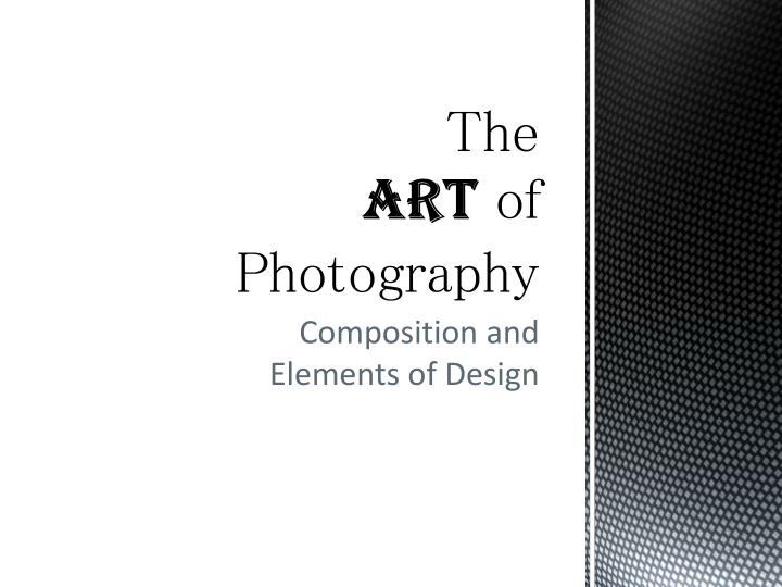 the art of photography n.