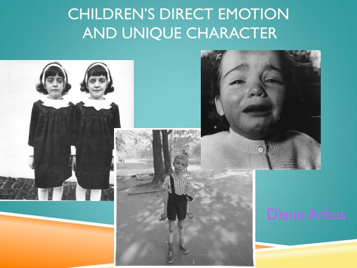 Children s direct emotion and unique character